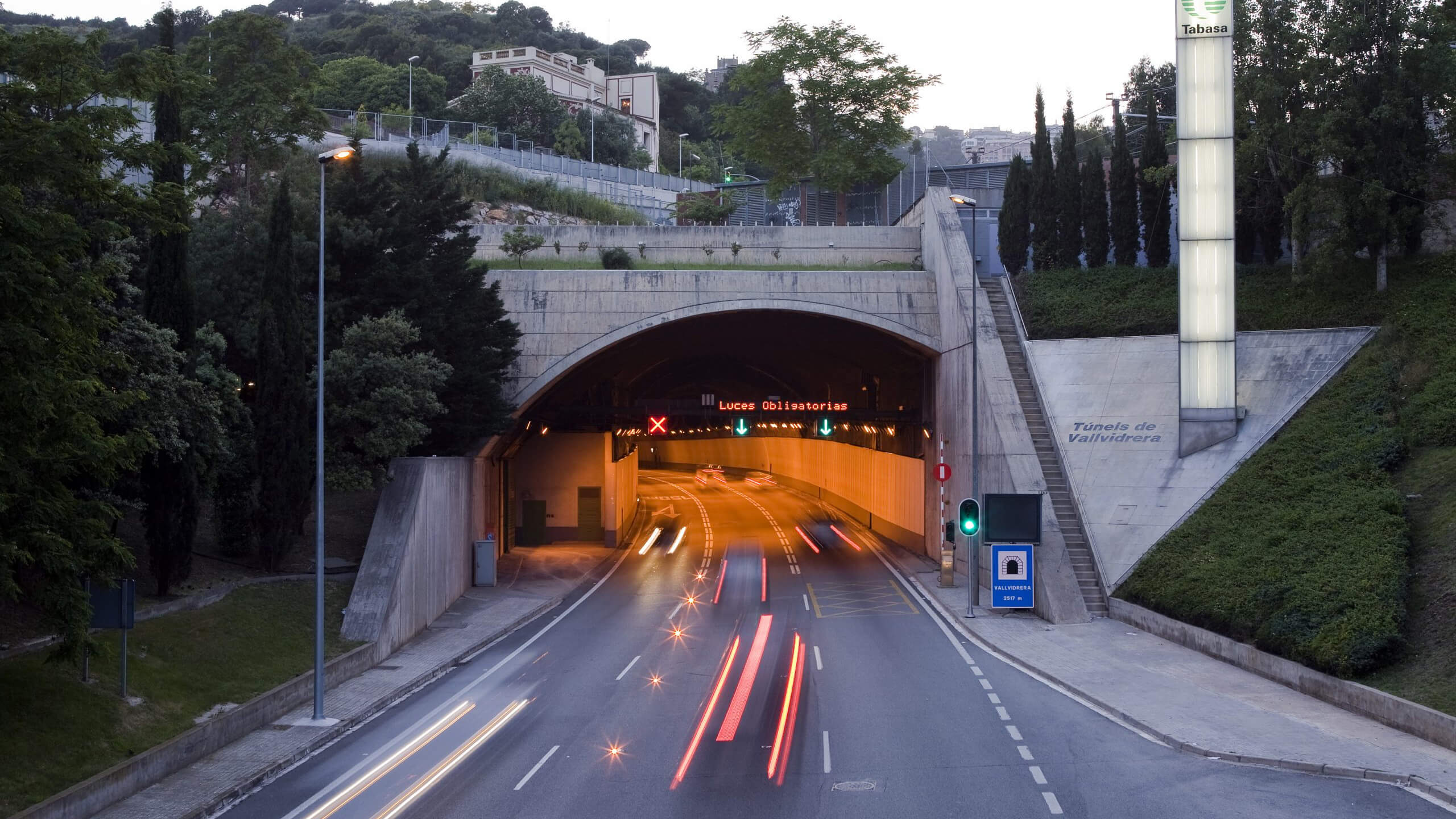 Túnels de Vallvidrera - entrada